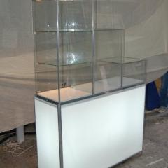 Exhibidor con caja de luz