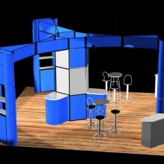 Isla 6 x 6 con techo
